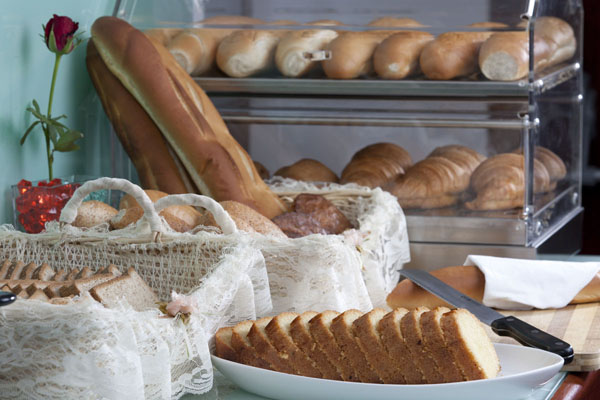 Bread and cake assortement